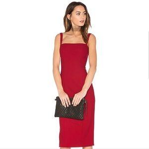 Cinq a Sept Crimson Ela Midi Dress